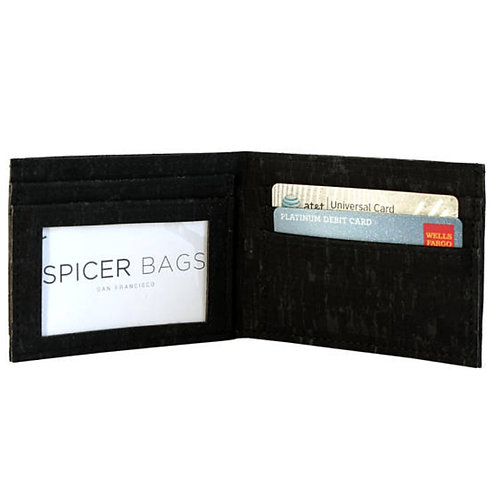 BLACK CORK WALLET