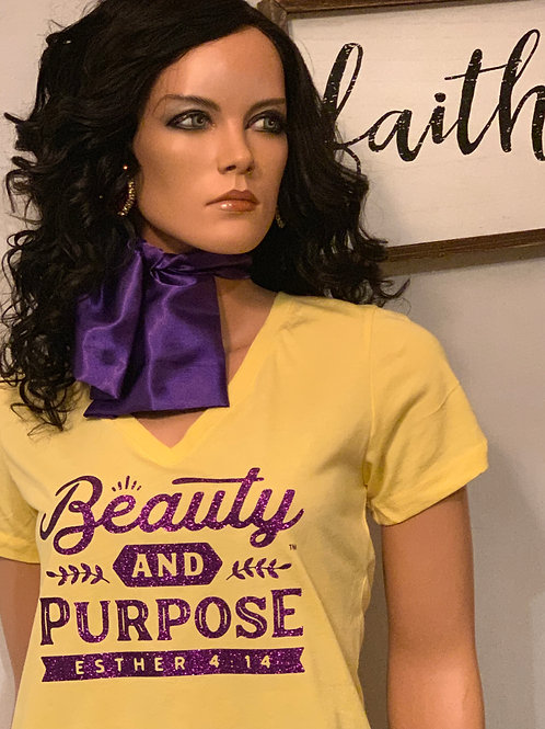 B&P - Buttercup/Purple - Women's Fit Shirt