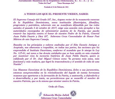"""""""Universi Terrarum Orbis Architectonis Ad Gloriam Ingentis"""" Supremo Consejo del Grado 33, Inc., Juri"""