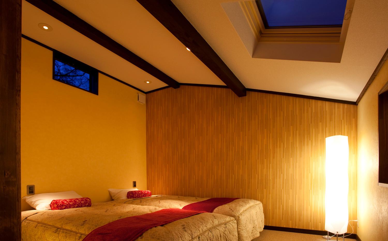 オーベルジュテラ ラグジュアリー寝室