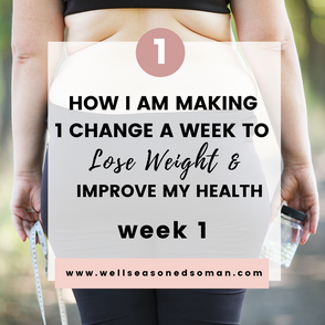 Week 1:  Improving My Health and Losing Weight