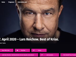 Live-Konzert: 17.04.20, 20:15                    Lars Reichow.  Best of Krise.
