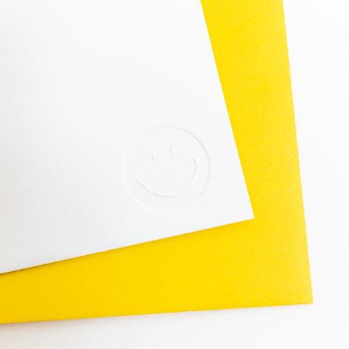 Smiley Letterpress Card Set