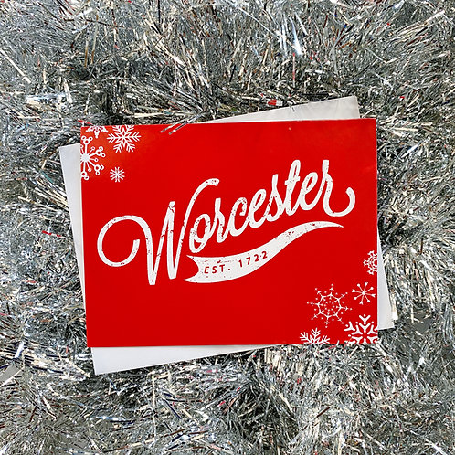 Red Worcester Winter Card