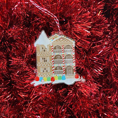 Gingerbread Three Decker Ornament