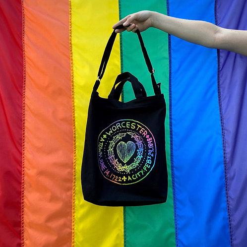 Rainbow City Seal Heavy Tote Bag