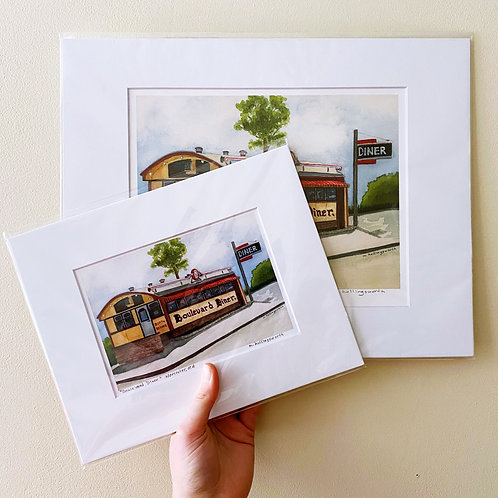 Boulevard Diner Art Print