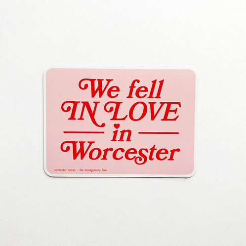We Fell In Love In Worcester Magnet