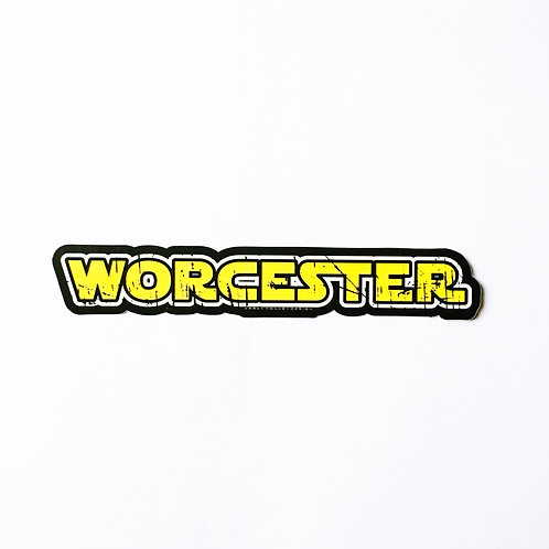 Worcester May the Force Be With You Sticker