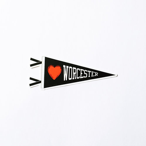 Worcester Pennant Sticker