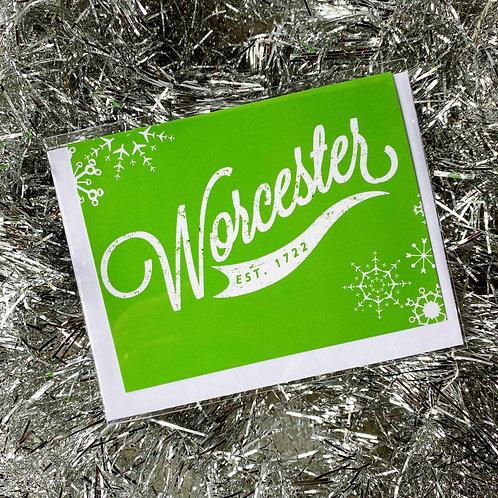 Green Worcester Winter Card