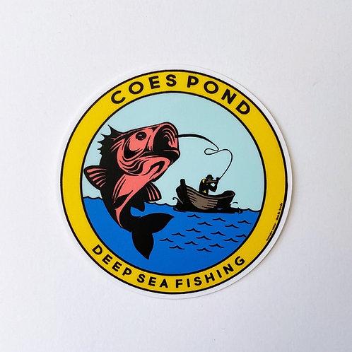Coes Pond: Deep Sea Fishing Sticker