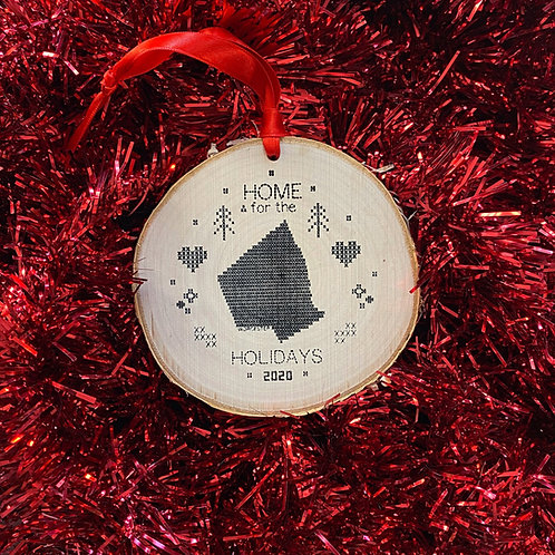 Home for the Holidays Birch Ornament