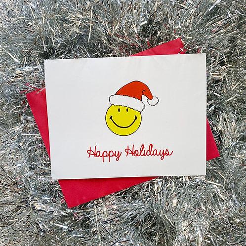 Smiley Santa Card