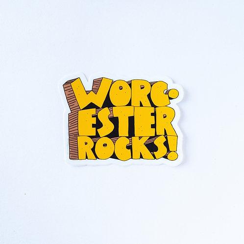 Worcester Rocks Sticker