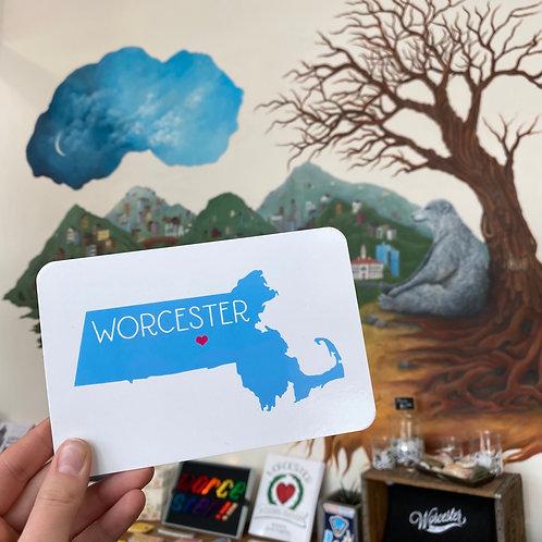 Worcester, MA Postcard