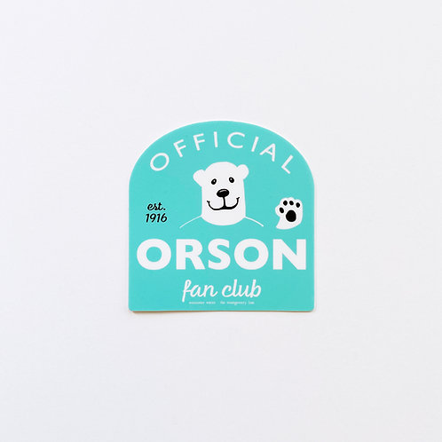 Orson Fan Club Sticker