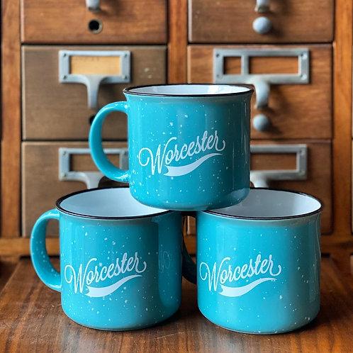 Blue Ceramic Speckled Mug