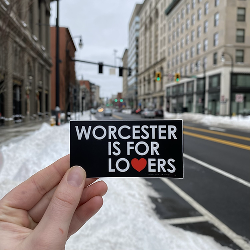 Worcester is for Lovers Sticker