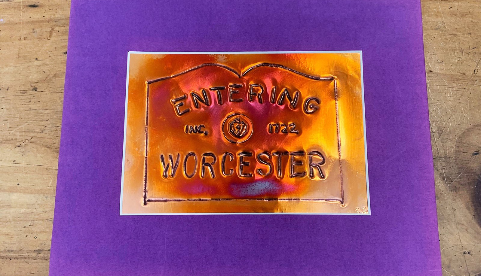 Entering Worcester