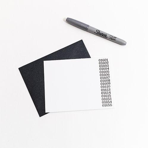 Zip Code Individual Card
