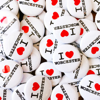 I Heart Worcester Pins
