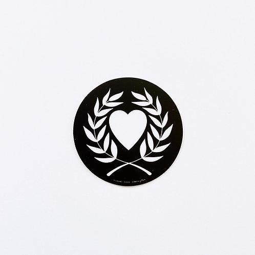 Heart & Laurel Sticker