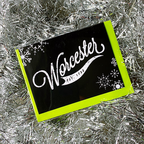 Black Worcester Winter Card