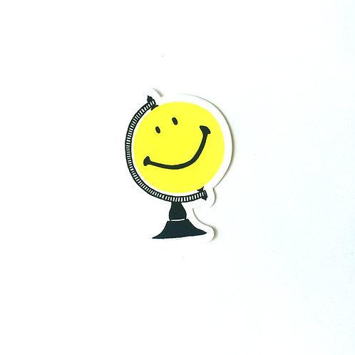 Smiley Globe Sticker