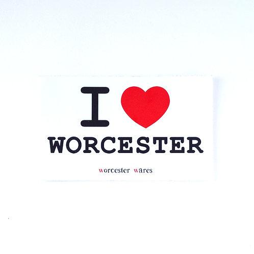 I ♥ Worcester Sticker