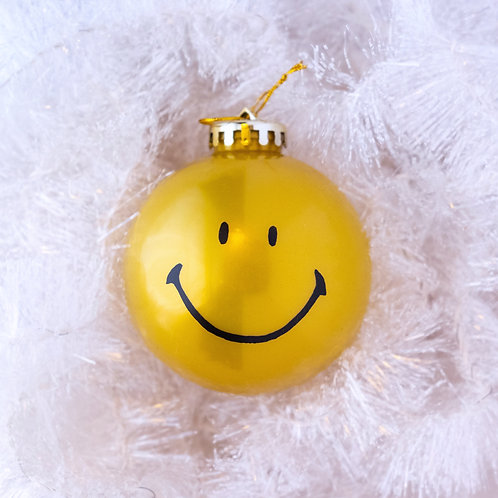 Smiley Shatterproof Ornament