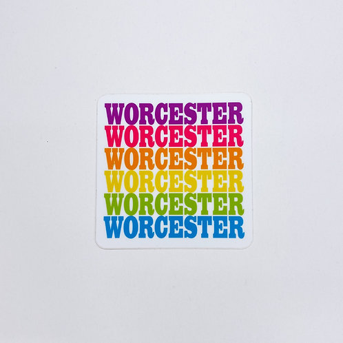 Multi-Color Worcester Sticker