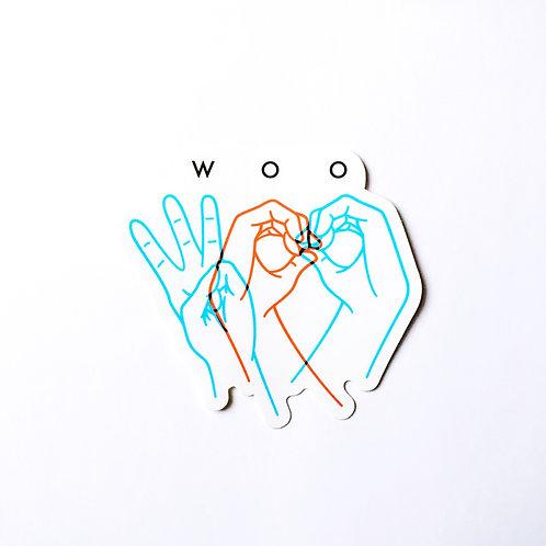 Woo Hands Sticker