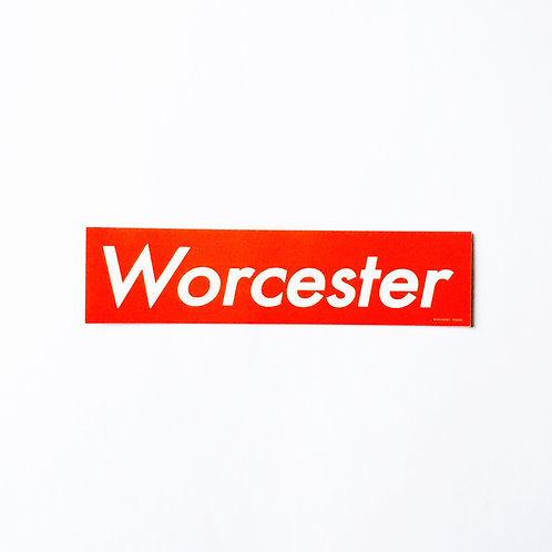 Worcester Red Box Sticker