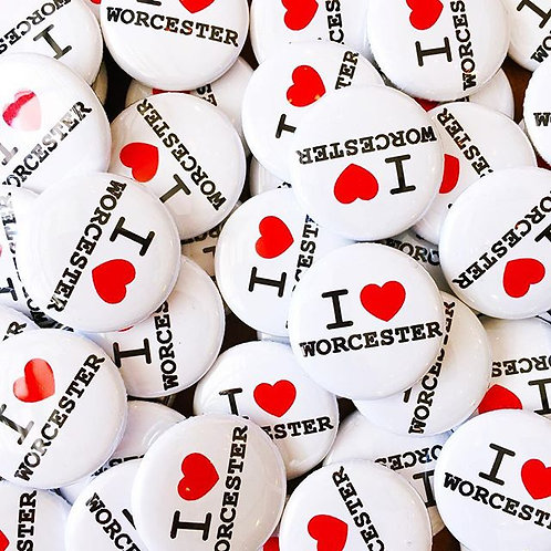 I Heart Worcester Pin