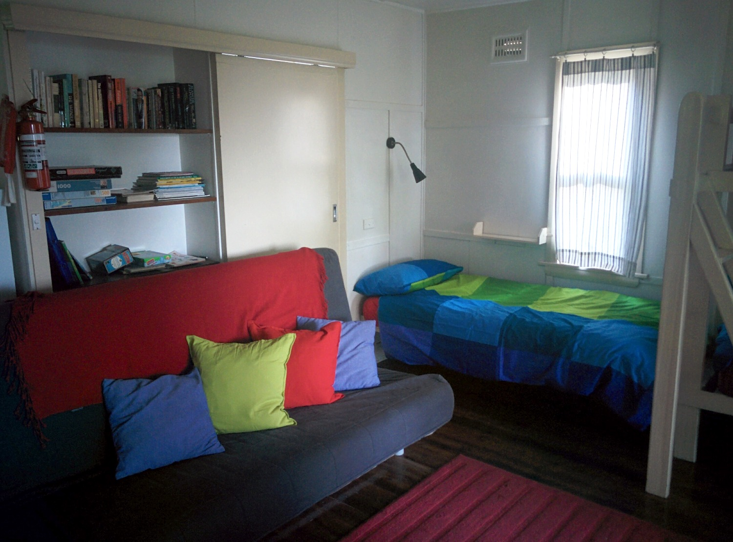 Cabin 2's sofa bed and one bunk