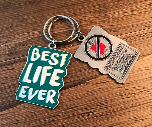 Best Life Ever Green No Blood Keychain