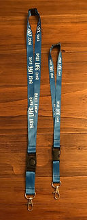 Best Life Ever Lanyards or Jehovah's Witnesses Kid size next to Regular Size