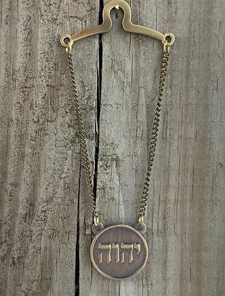 Tetragrammaton Tie Chain Round Antique Bronze