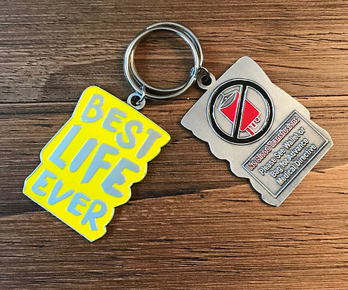 Best Life Ever Yellow No Blood Keychain