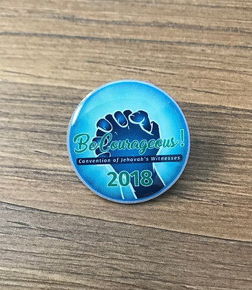 1- 2018 Be Courageous! Convention Lapel Pin