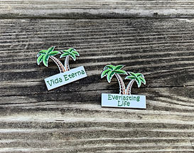Everlasting Life Palm Tree Lapel Pin for