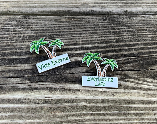 25 Everlasting Life Palm Trees Lapel Pins