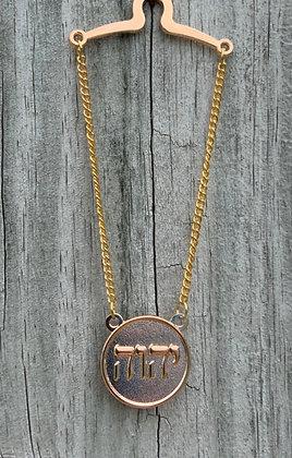 Tetragrammaton Tie Chain Round Rose Gold