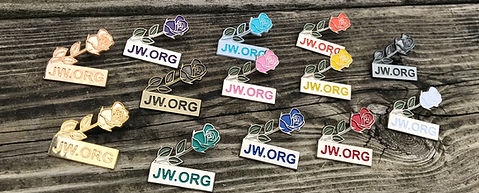 jw.org Rose Lapel Pins 13 Colors