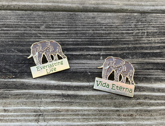8 Everlasting Life Elephant Lapel Pins