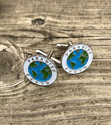 Paradise Earth Design Cufflinks Round