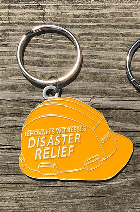 Disaster Relief Yellow No Blood Keychain