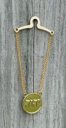 Tetragrammaton Tie Chain Round Gold