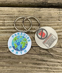Paradise Earth No Blood Keychain for Jeh